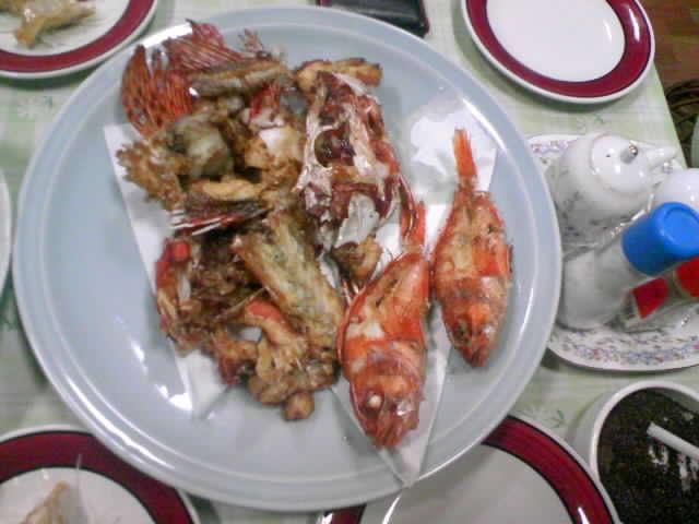 鹿島 名雪旅館にて お魚ディナー
